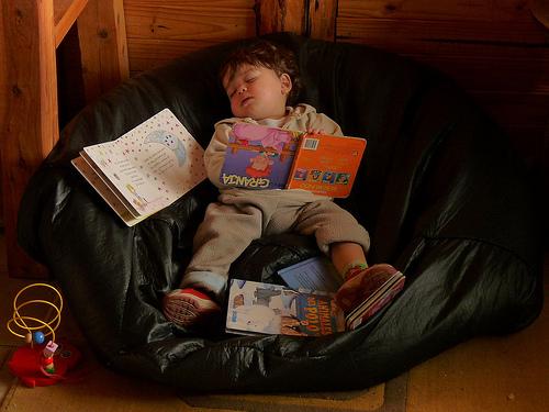 se durmió leyendo
