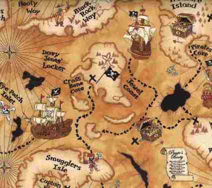 mapa busqueda tesoro