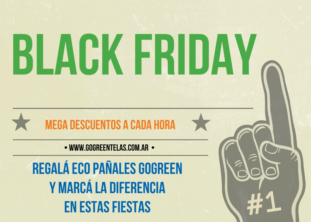 Black Friday ahora es Viernes Verde. Regalá sustentable y hacé la diferencia en estas Fiestas. Hacé click en la imagen para ir directo al EcoClub con todas las ofertas.